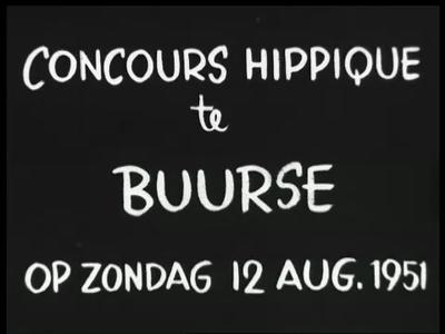 4773 BB03343 Reportage over paardenconcoursen te Buurse en Usselo, met beelden van deelnemers, juryleden en publiek, ...