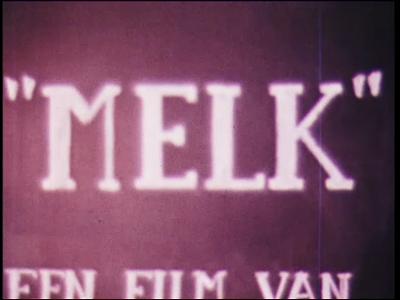 5038 BB07728 Een film van en met leerlingen van de Deventer MTS, met beelden van:- De tekst 'Melk film van B 2B 4-'78', ...