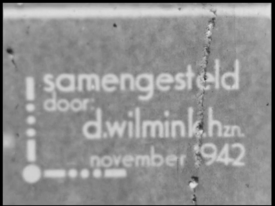 5428 BB04344 Samenvatting:Duitse filmbeelden van diverse varieté-acts, in november 1942 samengesteld door D. Wilmink ...