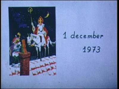 7630 BB03466 Sinterklaasintocht in Spoolde op 1 december 1973 door de Oranje Vereniging Spoolde. Motorboot met ...