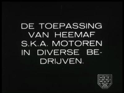 9151 BB02130 Een film van de Heemaf dat de diverse activiteiten van het bedrijf toont, met beelden van SKA-motoren ...