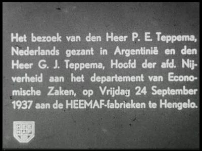 9444 BB02134 Een film van de Heemaf rond een bezoek dat de Nederlandse gezant te Argentinië P.E. Teppema, in gezelschap ...