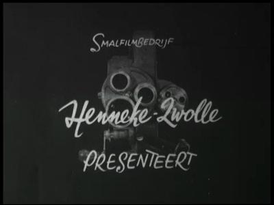 9563 BB00013 Promotiefilm 1952 in opdracht van de VVV Zwolle. Script, scenario en regie: Jan Louwen. Camera: Dolf ...