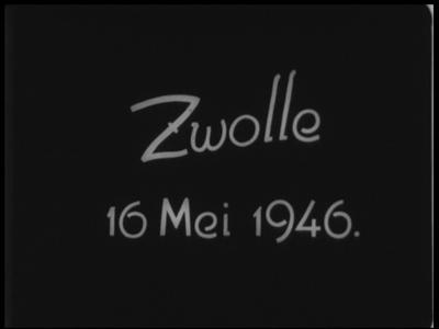 9578 BB00031 Samenvatting:Reportages over diverse gebeurtenissen in Zwolle:- De installatie van burgemeester jhr. mr. ...