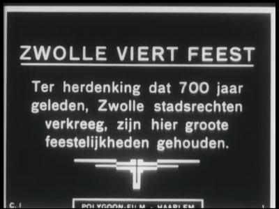 9579 BB00032 Nieuwsitems met betrekking tot Zwolle en omgeving, uitgezonden door het Polygoon Journaal in de jaren '20 ...