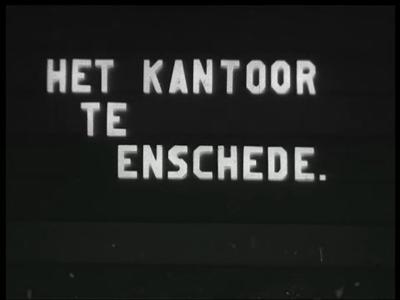 9816 BB02182 Een film met beelden van een kantoor te Enschede, het bestuur in Balk, een magazijn, een kantoor in ...