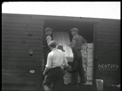 9821 BB02187 Een film rondom de export van eieren naar Engeland door het eierverwerkingsbedrijf OPC te Enschede, met ...