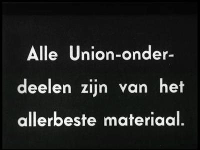 9949 BB00397 Promotie film van de Union Rijwielfabriek B.J. van den Berg in Den Hulst aan de Dedemsvaart in ...