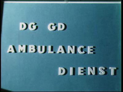 9971 BB00419 Bouw Ambulancegarage in Almelo aan de Westerdokstraat.Beelden van het oude onderkomen van de dienst. ...