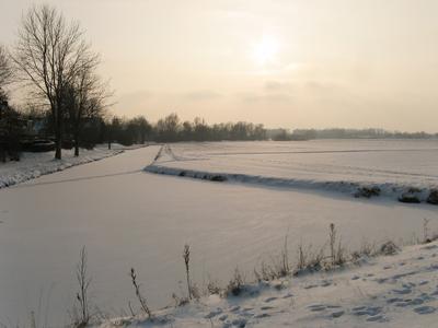 4143 DBUITERWIJK-001539 Winter en Sneeuw in Zwolle - Aa-landen-dijklanden, 2013-01-22
