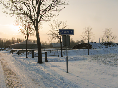 4148 DBUITERWIJK-001544 Winter en Sneeuw in Zwolle - Aa-landen-dijklanden-Urksteeggeregeld zijn er herten te zien, 2013-01-22