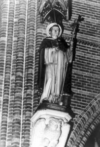 1175 FD000418 Heilige Dominicus, patroon van de orde met staf en rozenkrans., 1991-00-00