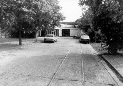 3532 FD001214 Losplaats van de DSM (Drentse (?) Stoomtramweg Mij) aan de Diezerkade hoek Blekerswegje. Deze tramrails ...