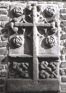 9952 FD001054 Zuidmuur van de voormalige Bethlehem Kerk met ingemetseld de grafsteen van Johannes à Kempis, broer van ...