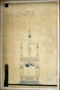 1560-KD001131 Monument en l'honneur de Thomas a Kempis, (E)glise de St. Michael a Zwolle. Motto Studie. Technische ...