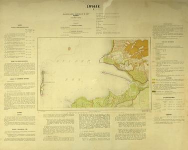 1684-KD001165 Zwolle 1 Topografische kaart van de Zuiderzee met het eiland Schokland (ontruimd in 1860). ...