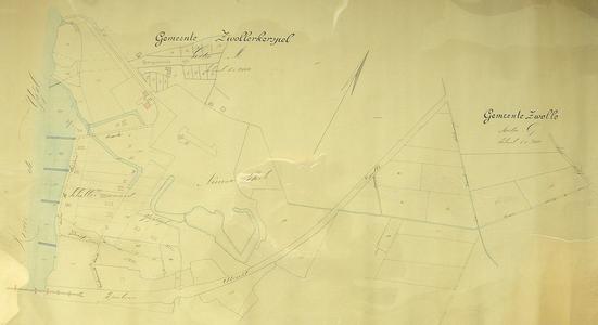 1694-KD001175 Gemeente Zwollerkerspel Sectie M, Gemeente Zwolle Sectie G Kadasterkaart van Zwolle rond het Engelse Werk ...