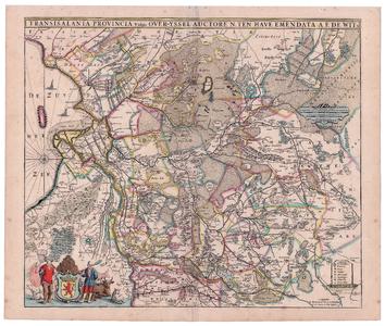 2163 Transisalania provincia vulgo Over-yssel | auctore N. ten Have | Emendata A.F. de Wit Kaart ingekleurd van ...