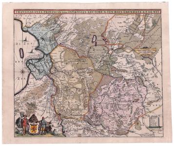 2164 Transisalania provincia vulgo Over-yssel | auctore N. ten Have | Emendata A.F. de Wit Kaart ingekleurd van ...