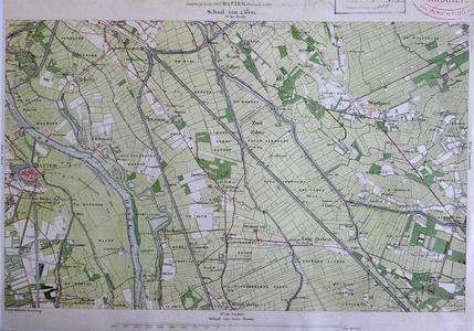 415-KD001367 Hattem 320 Kopie van een topografische kaart van Hattem en het gebied ten oosten ervan. De kaart is ...