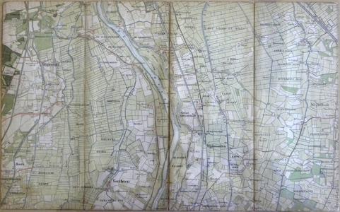 425-KD001377 Vorchten 338 Topografische kaart van de IJssel met aan de westzijde Wapenveld en Vorchten, en aan ...