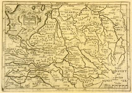 650-KD000295 Geldria et Transisulana Kaart van Gelderland en Overijssel (ten zuiden van Zwartsluis), stukken Noord ...
