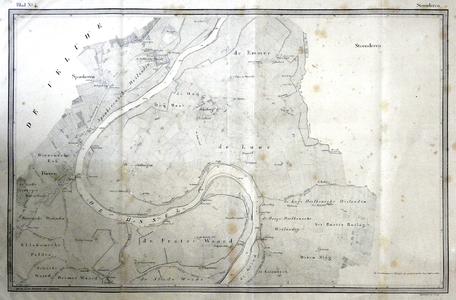725-KD001463 Steenderen blad nr. 4 Vierde blad van de atlas van de IJssel door L.J.A van der Kun en R. Musquetier. ...