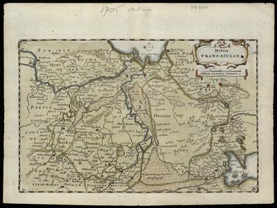 2165 Dito Trans-Isulana 1 kaart. Handgekleurde kopergravure, uitgegeven in 1706 te Amsterdam door Daniël de la Feuille ...