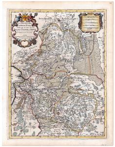 2166 Kaart van de Provincie Overijssel Originele gravure uitgegeven door de franse kartograaf H. Jalliot. De graveur ...