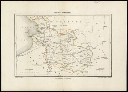2169 PROVINCIE OVERIJSSEL Losse kaart van Overijssel uit de Gemeenteatlas van Overijssel naar officiële bronnen ...