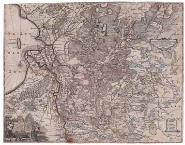 2173 Transisalania Vulgo Iver-Yssel emendata A.R. & I. Ottens, Amstelodami Kaart van Overijssel met steden, dorpen ...