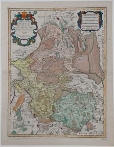799-KD000337 La Seigneurie d' Over-IJssel subdivisée en Trois Parties 1 kaart van Overijssel, verdeeld in Drenthe, ...