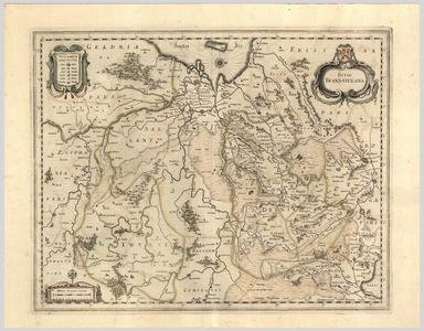 909-KD000339 Ditio Trans-isulana 1 kaart. Overijssel en Drenthe. Overijssel is verdeeld in Salland, en Twente. ...