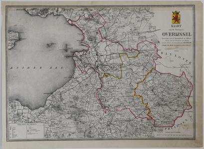910-KD000340 Kaart van de Provincie Overijssel vervaardigd naar de Topographische en Militaire Kaart van het Ministerie ...