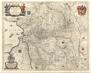 925-KD000355 Transiselania Dominium vernaculè Over-Yssel 1 kaart. Overijssel, Drenthe, Salland, Twente. Kaart van ...