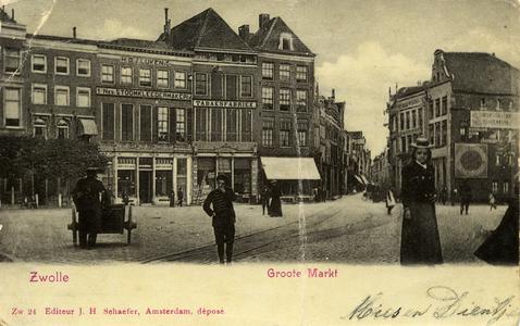 1004 PBKR6597 Grote Markt 9: Eerste Nederlandse Stoomkleedermakerij van H. G. J. Lüken en Co. (vanaf 1895 tot 1896 ...