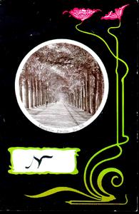 1167 PBKR5458 Schmuckkarte Jugendstil, Veerallee ca 1900, 1900-00-00
