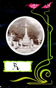 1168 PBKR5459 Schmuckkarte Jugendstil fontein op Van Nahuysplein ca. 1900, 1900-00-00