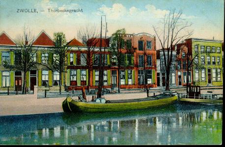 1291 PBKR3790 Thorbeckegracht, met binnenvaartschepen, ca. 1920-1930., 1920-00-00