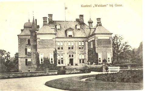 1807 PBKR5557 Kasteel Weldam bij Goor, ca. 1920-1930. Voorgevel., 1920-00-00