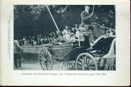 1957 PBKR4453 Aankomst van P. Kruger, president van Zuid Afrikaanse Republiek aan het Katerveer op woensdag 3 juli 1901 ...