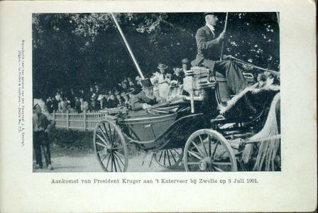 1958 PBKR4454 Aankomst van P. Kruger, president van Zuid Afrikaanse Republiek aan het Katerveer op woensdag 3 juli 1901 ...