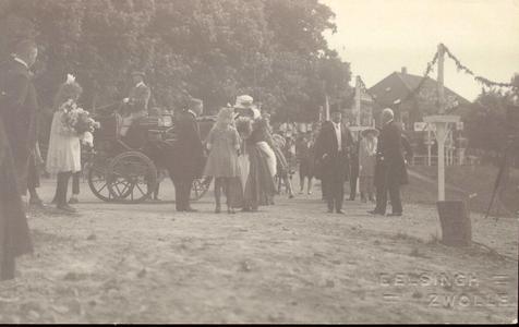 2160 PBKR4480 Koninklijk Bezoek Zwolle 27-30 mei 1921. Aankomst van Koningin Wilhelmina, Prins Hendrik en Prinses ...