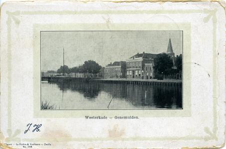 2699 PBKR6291 Gezicht vanaf de Oosterkaai over de Binnenhaven op de Westerkade (Westerkaai). Op de achtergrond de NH ...