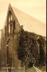 2755 PBKR3461 Gezicht op de westgevel van de Sint Geertruidenkapel, in gebruik als Waalse Kerk, ca. 1930. Deze kapel ...