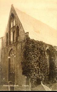 2757 PBKR3463 Schoutenstraat 4: Gezicht op de westgevel van de Sint Geertruidenkapel, in gebruik als Waalse Kerk, ca. ...