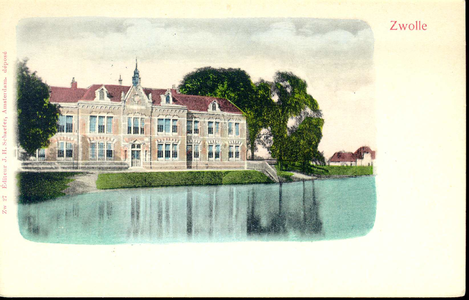 2948 PBKR3474 Menno van Coehoornsingel 16, Flevogebouw, 1900. Het gebouw is de ambachtschool die in 1898 werd gebouwd. ...