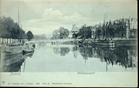 3421 PBKR4123 Willemsvaart, Emmawijk, Keersluisbrug, Eek- en Jufferenwalmolens, schepen., 1905-00-00
