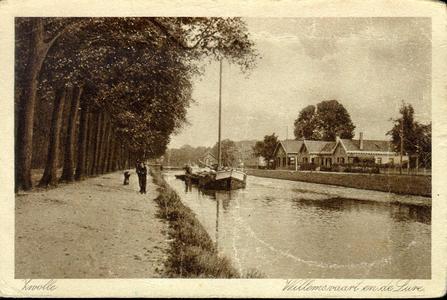 3428 PBKR4130 Willemsvaart ca. 1910-1920 naar het noorden ter hoogte van de Lure (Assendorperlure). Rechts kopstaande ...