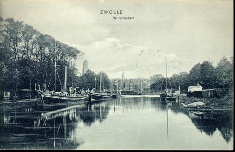3432 PBKR4134 Willemsvaart naar het noorden gezien vanaf de draaibrug in het Kamperlijntje (spoorlijn Zwolle - Kampen) ...